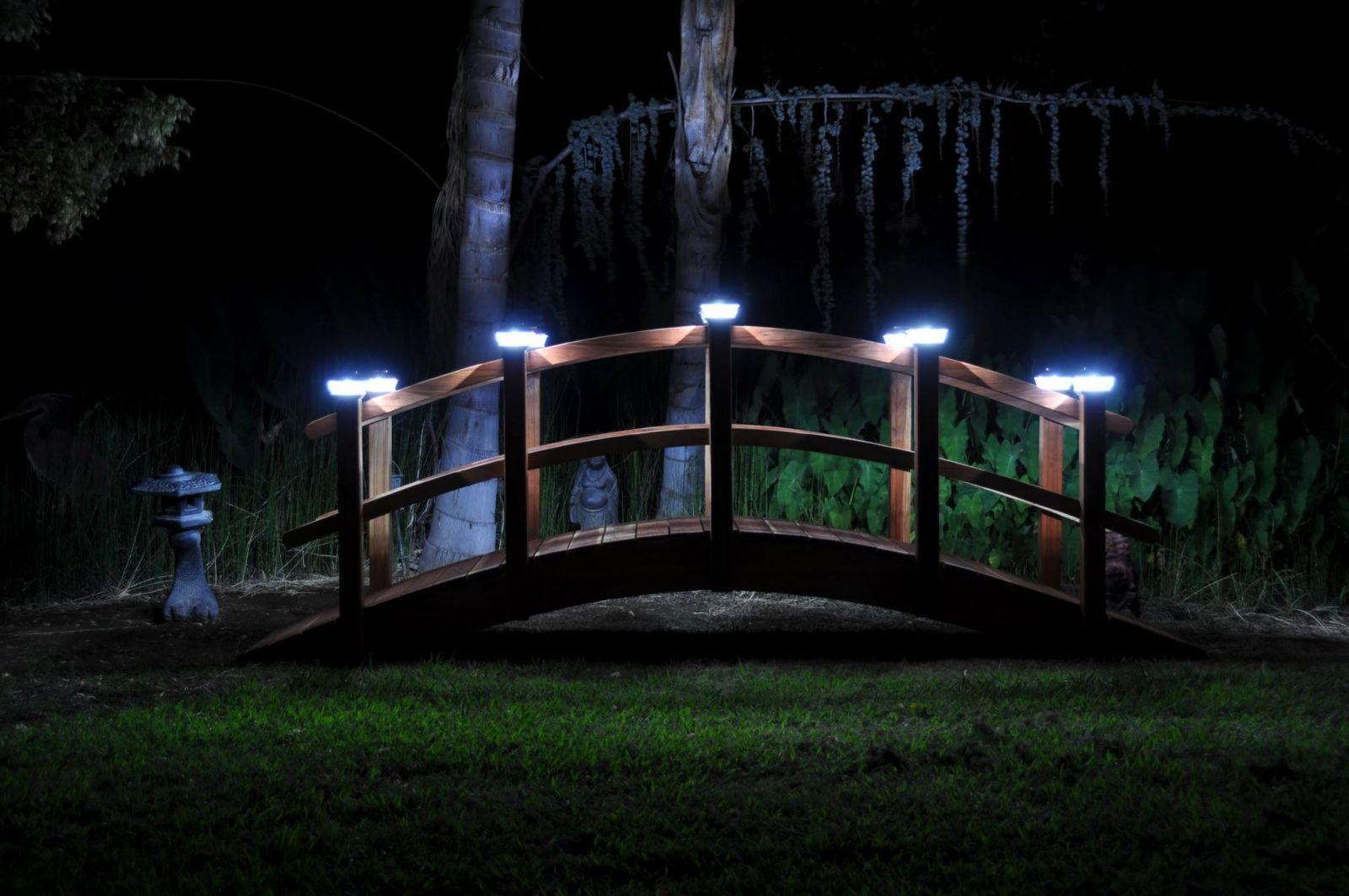 Genial Redwood Garden Bridges For Koi Ponds