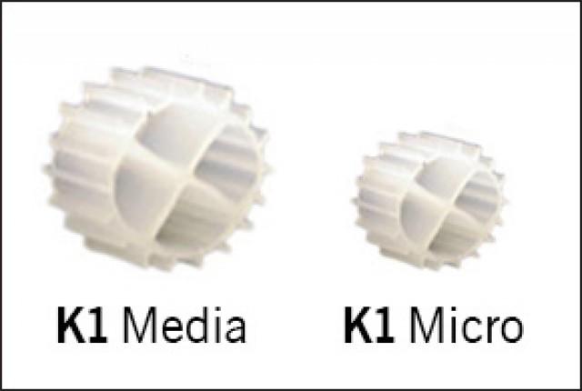 Image gallery koi air supply kaldnes for Homemade bio filter media
