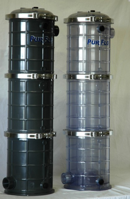Pur Flo Three High Strainer Pots Leaf Baskets Strainer Pots